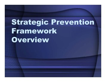 What is the Strategic Prevention Framework? - One Voice for Volusia