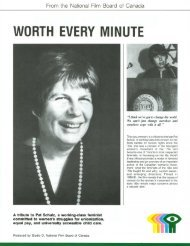 WORTH EVERY MINUTE - National Film Board of Canada