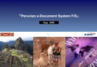 Peruvian e Document System F/S - Ongei
