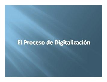 El Proceso de Digitalización - Ongei