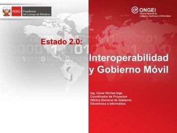 Interoperabilidad y Gobierno Móvil - Ongei