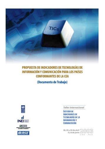 propuesta de indicadores tic para los paises conformantes ... - Ongei