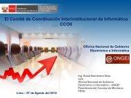 Informes y Actividades de la ONGEI.