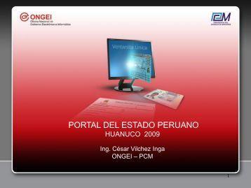 Portal de Servicios al Ciudadano y Empresas - Ongei