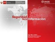 Seguridad de la Información - Ongei