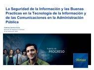 Seguridad de la Información y las Buenas Prácticas en el ... - Ongei