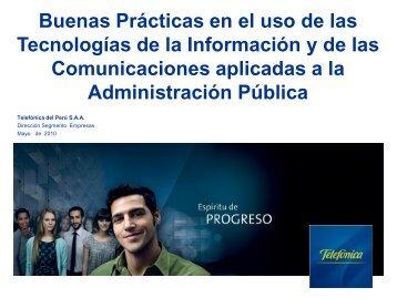 Buenas prácticas usando TIC en la Administración Pública - Ongei