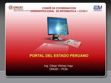 Portales del Estado Peruano - Ongei
