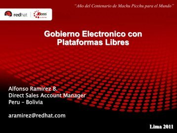 Gobierno Electrónico con Plataforma libre - Ongei
