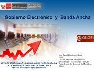 Gobierno Electrónico y Banda Ancha - Ongei