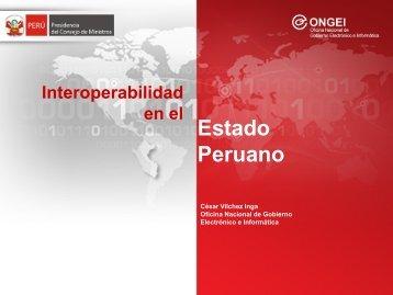 Interoperabilidad en el Estado Peruano. - Ongei