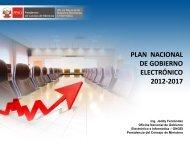 Plan Nacional de Gobierno Electrónico 2012-2017. - Ongei