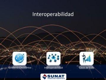Buenas Prácticas de Interoperabilidad en SUNAT - Ongei