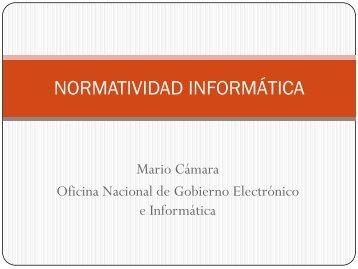 Normatividad Informática: Licenciamiento de software ... - Ongei