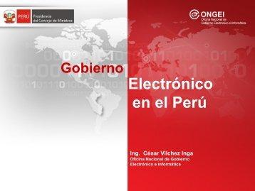 Gobierno Electrónico y Sociedad de la Información - ONGEI