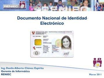 DNI Electrónico y servicios para ciudadanos y empresas - Ongei