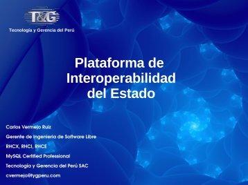 Implementación de la Plataforma de Interoperabilidad del ... - Ongei
