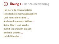 Übung 1 - Der Zauberlehrling - Onilo.de