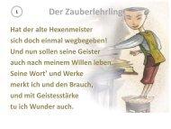 Der Zauberlehrling - Das Gedicht - Onilo.de