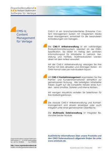 Download Produktinformation - Organisationsdienst Herbert ...