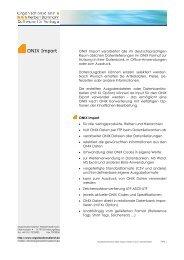 ONIX Import - Organisationsdienst Herbert Barkmann • Software