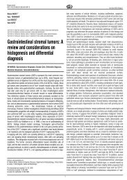 Gastrointestinal stromal tumors: A review and considerations on ...