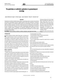 The guidelines on antibiotic application in ... - doiSerbia