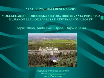 SAKUPLJANJE UZORAKA - Institut za onkologiju Vojvodine