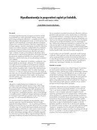 Hipoalbuminemija in pooperativni zapleti pri bolnikih, operiranih ...