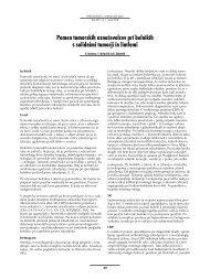 Pomen tumorskih označevalcev pri bolnikih s solidnimi tumorji in ...