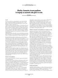 Okužba s humanim virusom papiloma in tveganje za nastanek raka ...