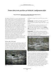 Pomen ultrazvočne preiskave pri bolnicah z malignomom dojke (.pdf ...