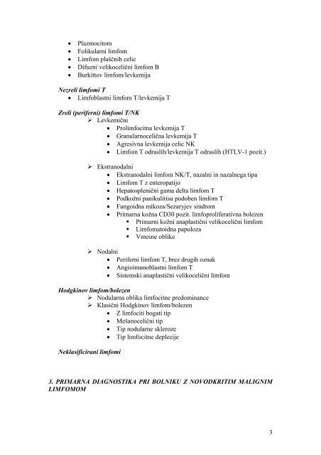 Doktrina zdravljenja bolnikov z NeHodgkinovimi ... - Onkološki inštitut