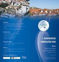 1. MARIBORSKI ONKOLOŠKI DAN Tema - Onkološki inštitut
