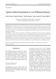 Spinal subdural haematoma in von Willebrand disease