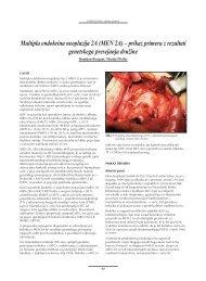 Multipla endokrina neoplazija 2A (MEN 2A) – prikaz primera z ...
