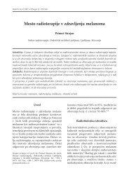 Mesto radioterapije v zdravljenju melanoma (.pdf ... - Onkološki inštitut