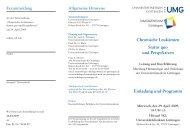 Veranstaltungsflyer - Hämatologie und Onkologie