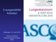 Lungenkarzinom 6. Post ASCO 2010 - Hämatologie und Onkologie