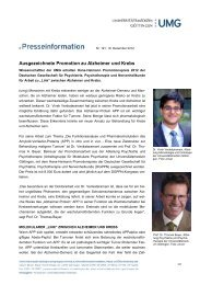 Pressemitteilung - Hämatologie und Onkologie