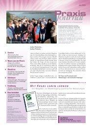 Praxis Journal - Hämatologisch-Onkologische Schwerpunktpraxis