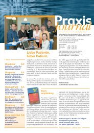 Ausgabe 7 / 2007 - Hämatologisch-Onkologische Schwerpunktpraxis
