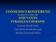 Prof. Dr. Leonore Handl-Zeller: Adjuvante Strahlentherapie