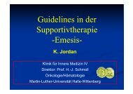 Guidelines in der Supportivtherapie -Emesis-
