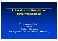 Prävention und Therapie des Tumorlysesyndroms