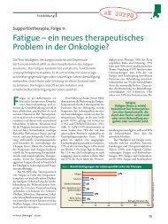 Fatigue – ein neues therapeutisches Problem in der Onkologie?