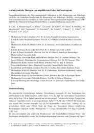 Antimikrobielle Therapie von ungeklärtem Fieber bei Neutropenie