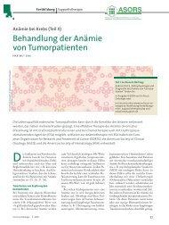 Behandlung der Anämie von Tumorpatienten