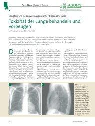 Toxizität der Lunge behandeln und vorbeugen