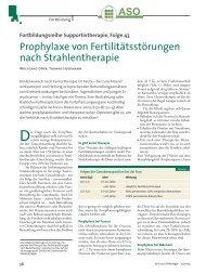 Prophylaxe von Fertilitätsstörungen nach Strahlentherapie